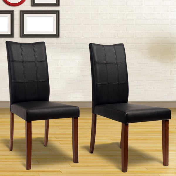 Yvonne Espresso Living Room Dining Chairs (Set of 2)