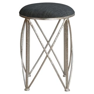Delaine Silver Small Stool