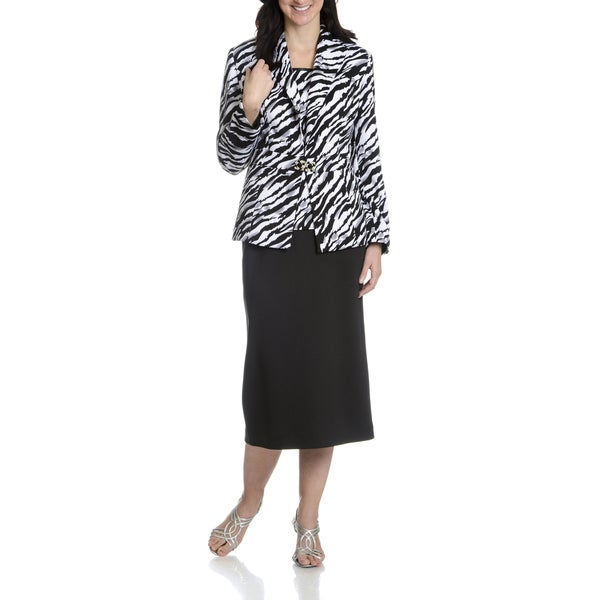 Giovanna Signature Women's Animal Print 3-Piece Skirt Suit