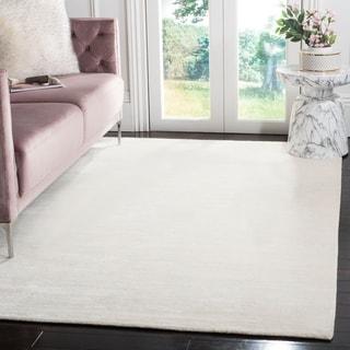 Safavieh Hand-knotted Mirage White Wool/ Viscose Rug (9' x 12')