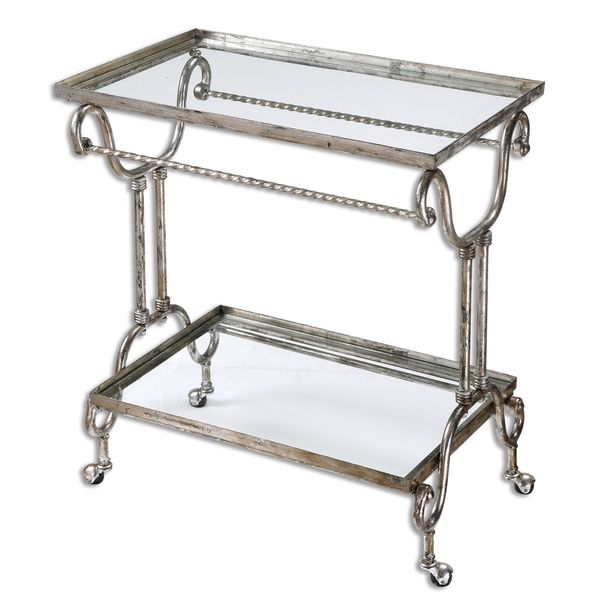Acasia Silver Tea Cart