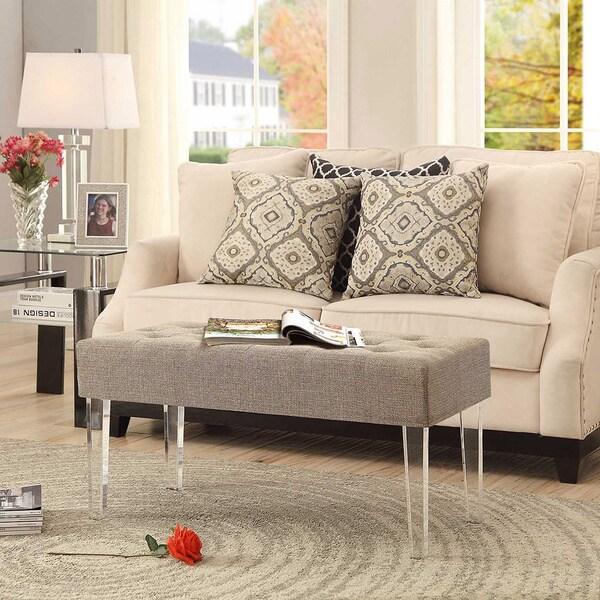Convenience Concepts Designs4comfort Acrylic Leg Bench