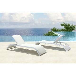 Sun Beach White Chaise Lounge