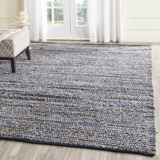 Safavieh Hand-Woven Cape Cod Blue/ Natural Cotton/ Jute Rug (6' Square)