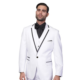 Men's Statement Venetian White 3-piece Tuxedo Suit