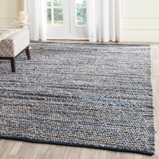Safavieh Hand-Woven Cape Cod Blue/ Natural Cotton/ Jute Rug (2'3 x 4')