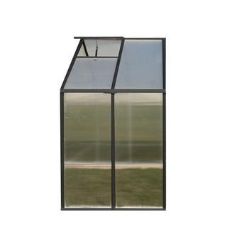 Monticello (8x4) Black Premium Greenhouse