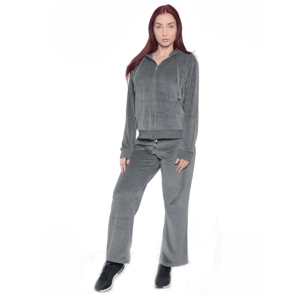 Women's Plus Size Double-layer Hood Velour Set
