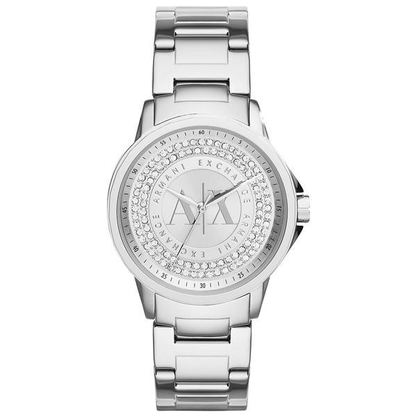 Armani Exchange Women's AX4320 Silvertone Stainless Steel Quartz Watch (As Is Item)