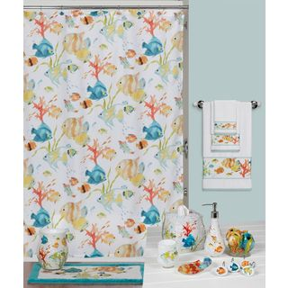 Rainbow Fish Shower Curtain and Hook Set (Multiple Items Available for Individual Sale)