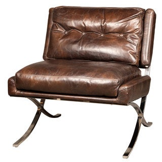 Capetown Antique Brown Leather Occasional Chair