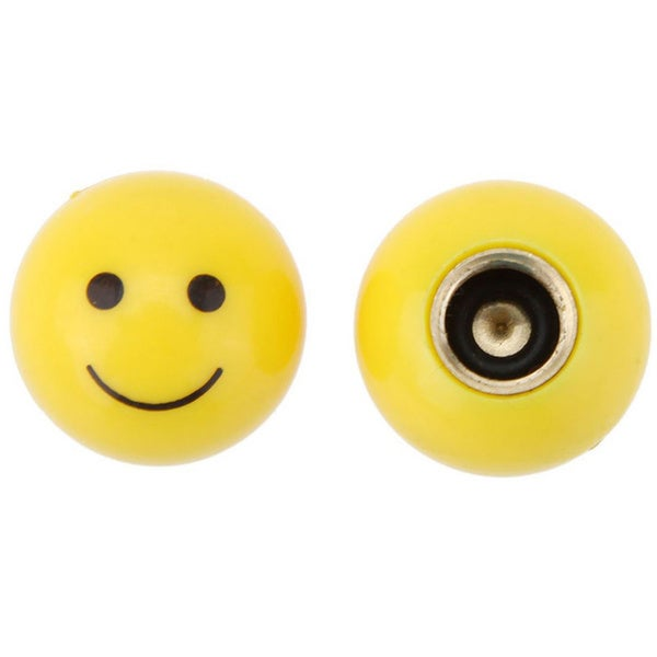Smiley Face Bike Valve Covers (Set of 4)