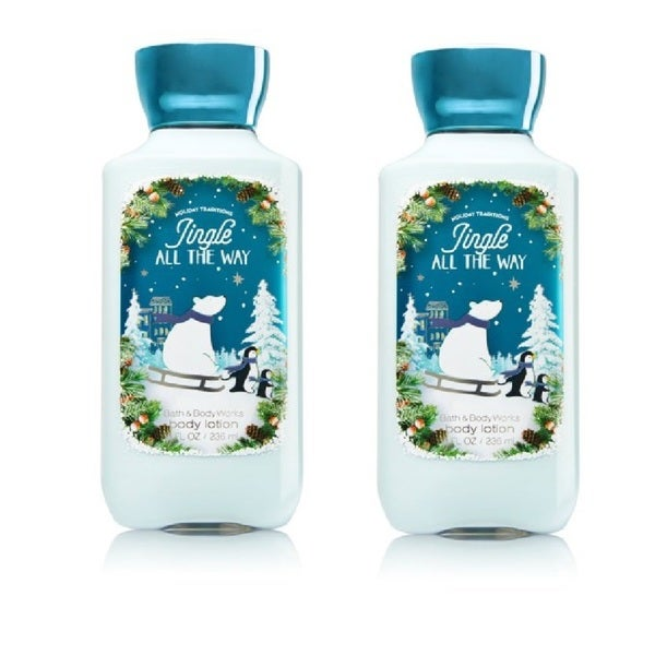 Bath and Body Works 8-ounce Shea and Vitamin E Lotion Jingle All The Way (Pack of 2)