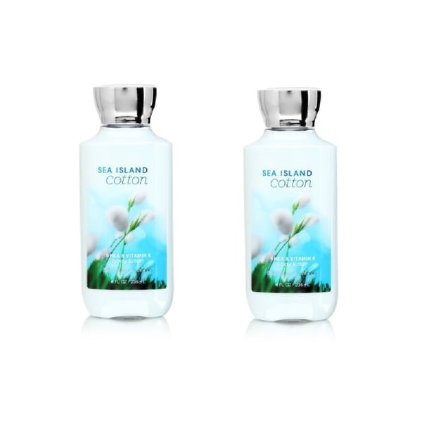Bath and Body Works Sea Island Cotton 8-ounce Body Lotion (Pack of 2)