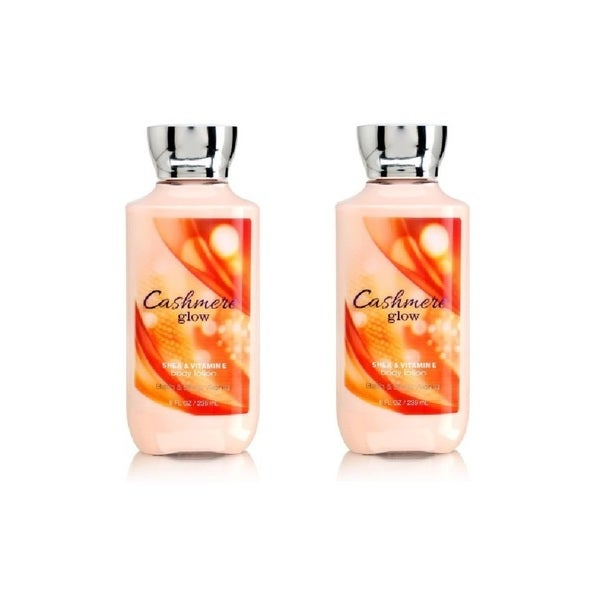 Bath and Body Works Cashmere Glow 8-ounce Body Lotion (Pack of 2)