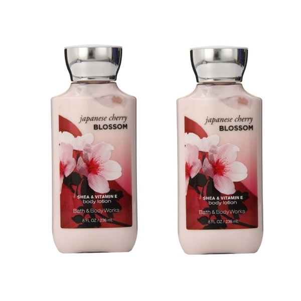 Bath and Body Works Japanese Cherry Blossom 8-ounce Body Lotion (Pack of 2)