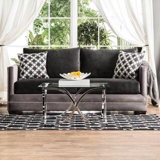 Furniture of America Romaja Contemporary 2-tone Track Arm Sofa