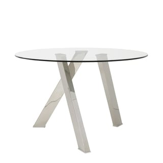 Frederick Polished Stainless Steel Dining Table
