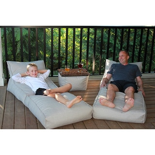 Outdoor Bean Bag Lounger Set