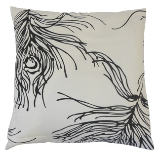 Neorah Graphic Feather and Down Filled 18-inch Throw Pillow
