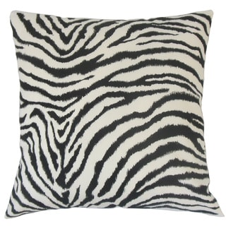 Wassameh Animal Print Feather and Down Filled 18-inch Throw Pillow