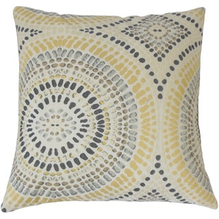 Dympna Geometric Feather and Down Filled 18-inch Throw Pillow