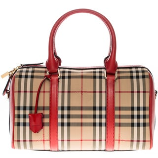 Burberry Medium Alchester in Horseferry Check Bowling Bag