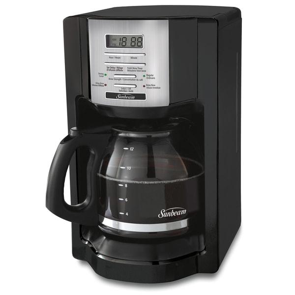 Sunbeam BVSBEHX23 12-cup Programmable Coffee Maker - 18037079 - Overstock.com Shopping - Great ...