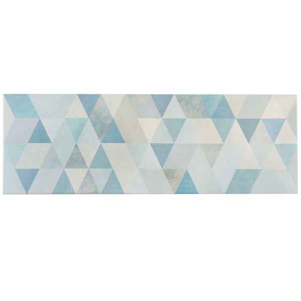 SomerTile 7.75x23.5-inch Genetic Blue Ceramic Wall Tile (Case of 9)