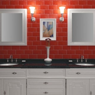 SomerTile 3.88x7.75-inch Project Matte Vermelho Ceramic Floor and Wall Tile (Case of 50)
