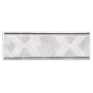 SomerTile 2.5x7.75-inch Zeta White Ceramic Listello Trim Wall Tile (Pack of 12)