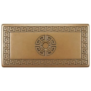 SomerTile 3x6-inch Courant Greek Key Deco Bronze Metallic Trim Wall Tile (Pack of 5)