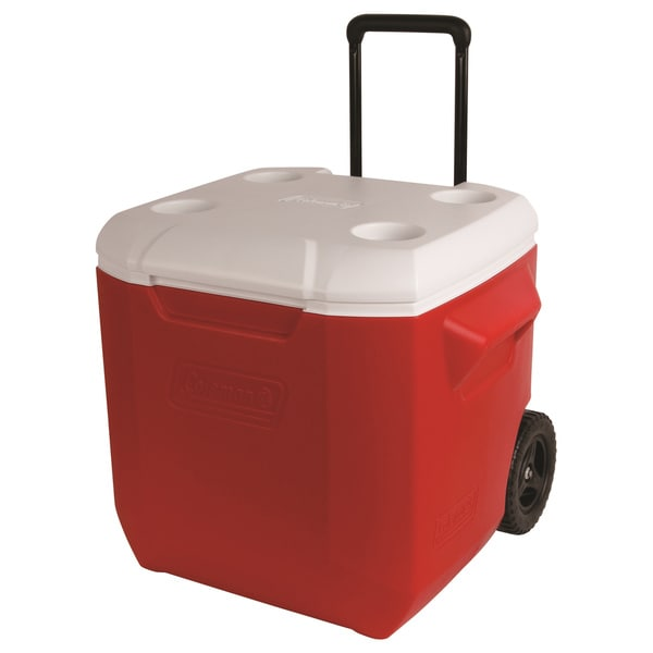 Coleman Red 45-quart Wheeled Cooler 17015516
