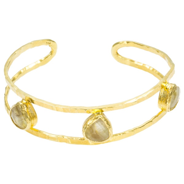 Golden Trifecta Hammered Cuff