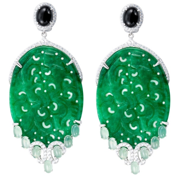 Jade Jubilee Chandelier Earrings