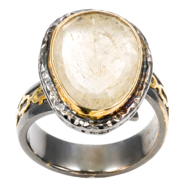Winter Palace Burnished Quartz Cocktail Ring