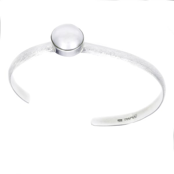 Full Moon Rising Sterling Silver Pearl Cuff (12-13 mm)