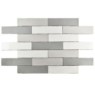 SomerTile 3x12-inch Juneau Craquele Soho Grey Ceramic Wall Tile (Case of 16)