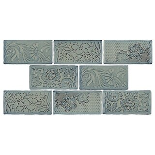 SomerTile 3x6-inch Antiguo Feelings Griggio Ceramic Wall Tile (Pack of 8)