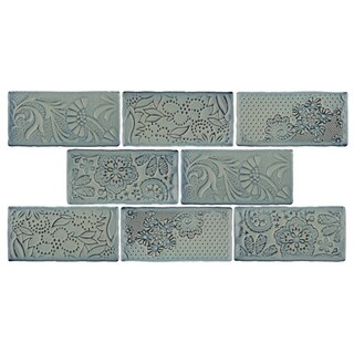 SomerTile 3x6-inch Antiguo Feelings Griggio Ceramic Wall Tile (8 tiles/1 sqft.)