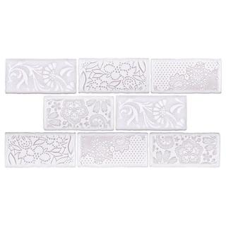 SomerTile 3x6-inch Antiguo Feelings Milk Ceramic Wall Tile (8 tiles/1 sqft.)