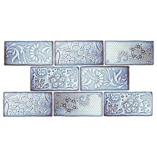 SomerTile 3x6-inch Antiguo Feelings Via Lactea Ceramic Wall Tile (Pack of 8)