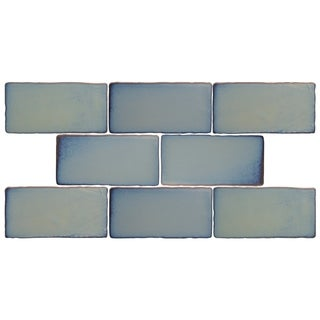 SomerTile 3x6-inch Antiguo Special Griggio Ceramic Wall Tile (Pack of 8)