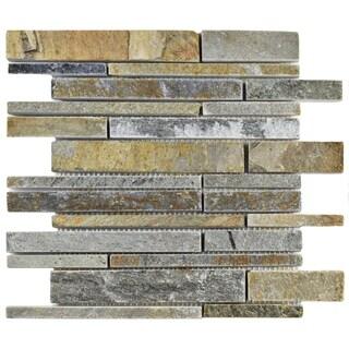 SomerTile 12x12-inch Ridge Grand Piano Arizona Quartzite Natural Stone Floor and Wall Tile (Case of 10)