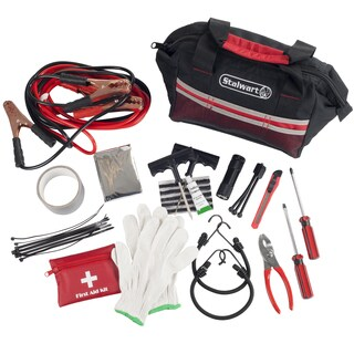 Stalwart 55 Pc Emergency Roadside Kit with Travel Bag