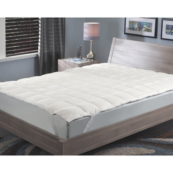 Famous Maker Prestige Comfort Protection Fiber Bed Topper Twin Size (As Is Item)
