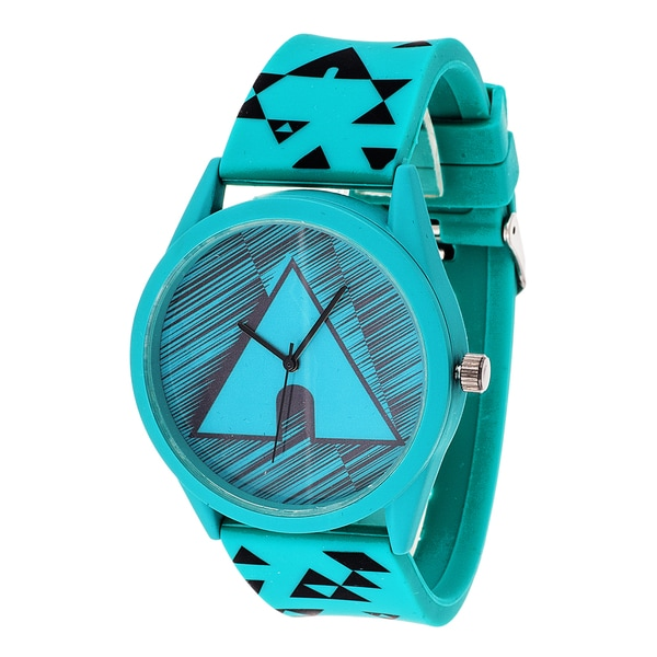 Airwalk Analog Unisex Turquoise Case and Logo dial with Turquoise Silicone Strap Watch