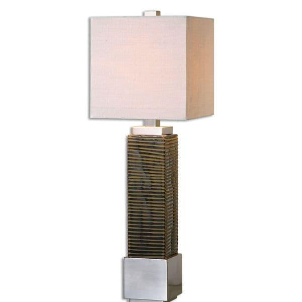 Jernigan Bronze Glass Table Lamp 17037079