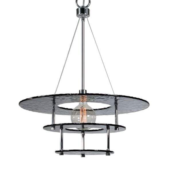 Gyrus 1-light Smoke Glass Chandelier