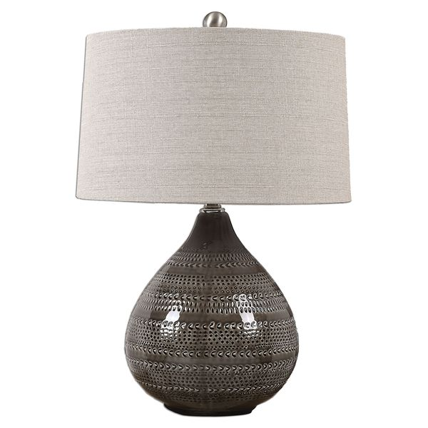 Batova Smoke Gray Lamp